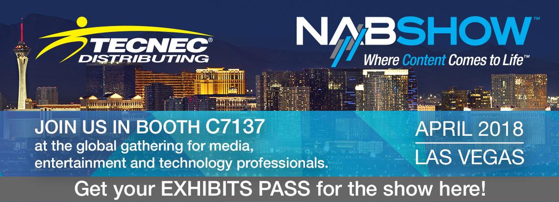 TecNec NAB 2018 Guest Pass