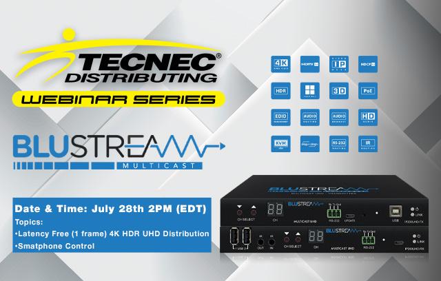 blustream video over ip webinar with tecnec