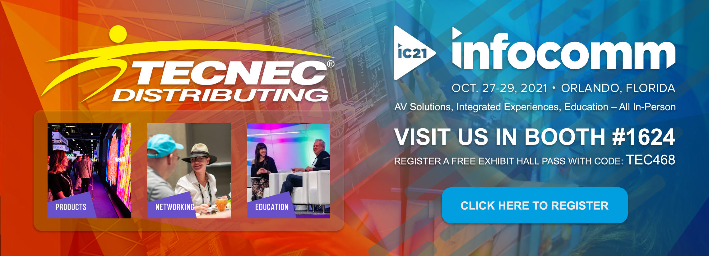 join tecnec with a free pass to infocomm 2021