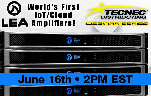 tecnec webinar with lea professional amplifiers