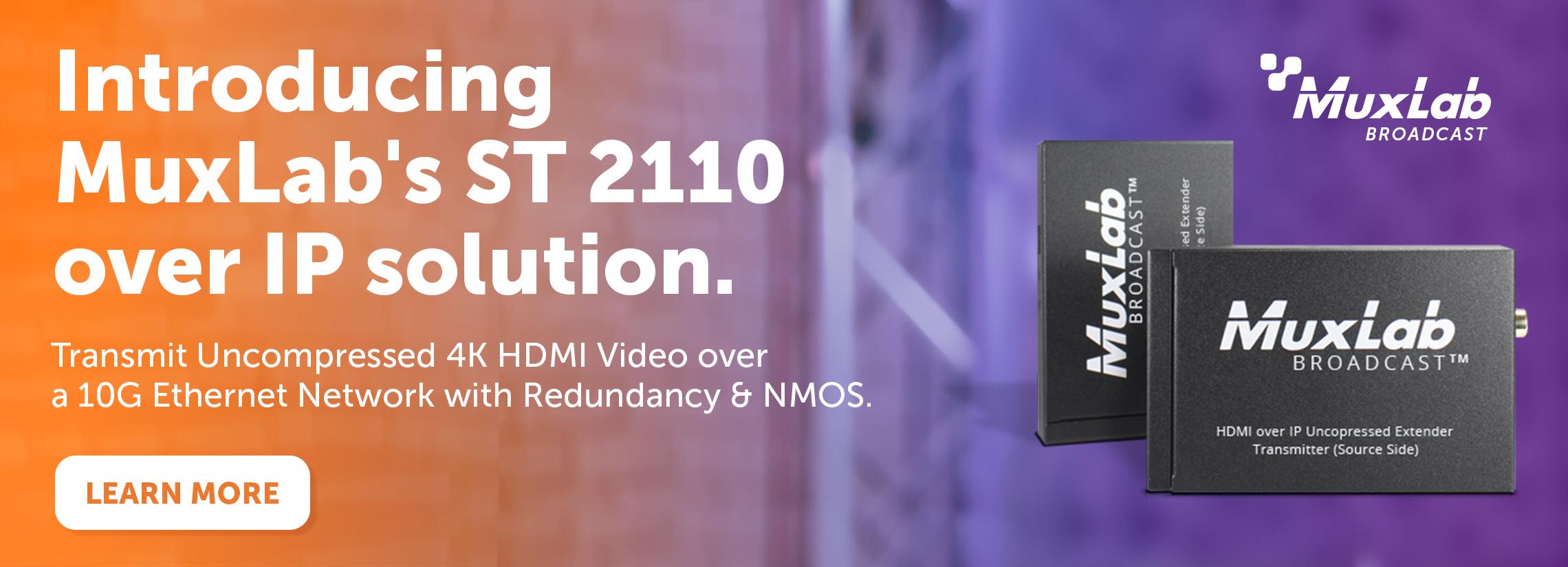 st-2110 av over ip solutions from muxlab