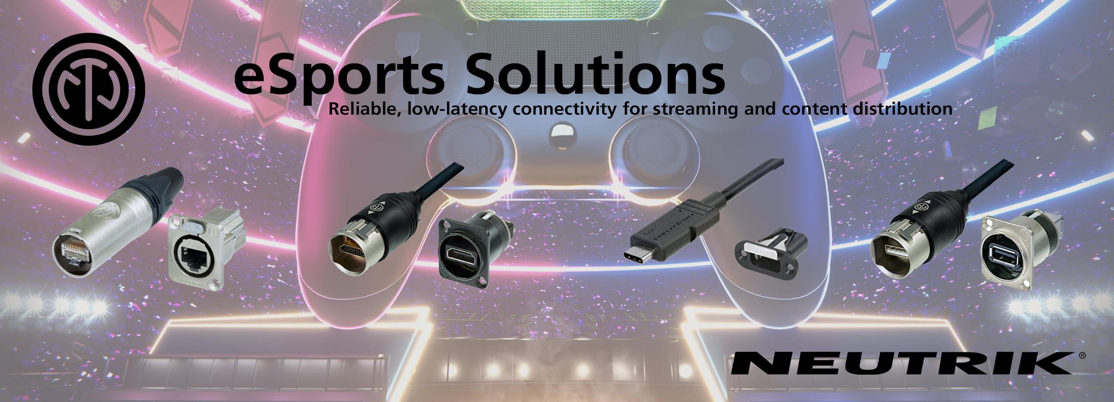 neutrik connectors for esports arenas