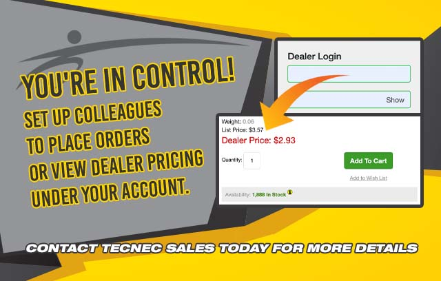 make your account a shared account at tecnec