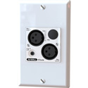 AuviTran AV-WALL-DT4i-LE Dante Super Compact Mic/Line Interface for Wall-mount Version - without Rotary Encoder